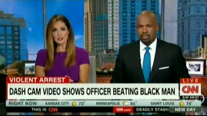 CNN Highlights Police Beating Video, But Ignored Video of Officer Being Shot