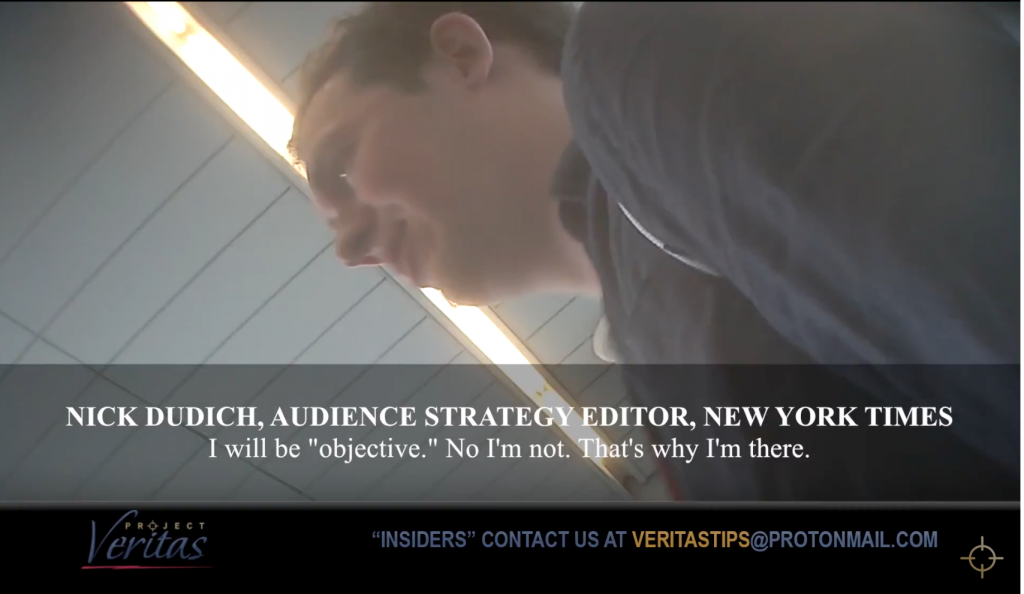 BREAKING | Undercover Video Shows Extreme New York Times Bias