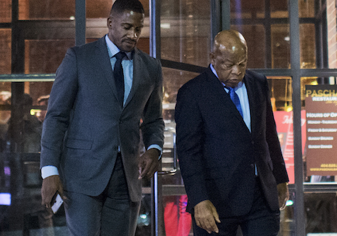 Rep. John Lewis and his Chief of Staff Michael Collins