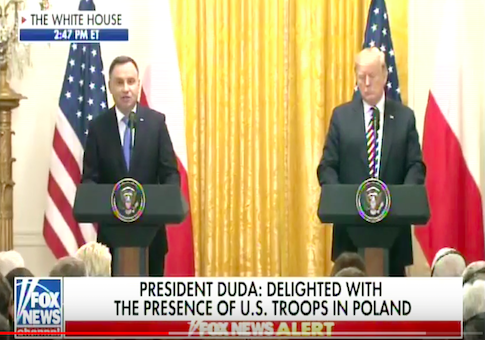 Polish President Wants New U.S. Military Base in Poland to Be Named 'Fort Trump'