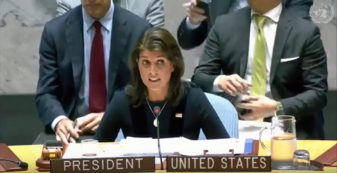 Haley Blasts Russia for Undermining Sanctions on North Korea