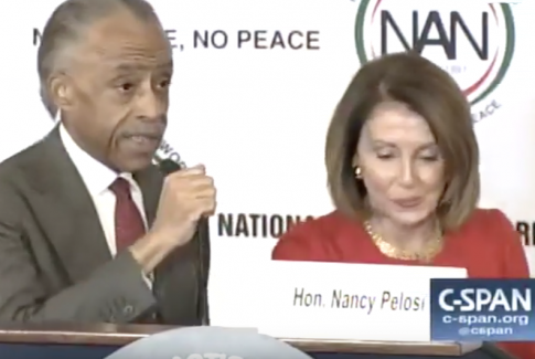 Pelosi Thanks Al Sharpton for 'Saving America'