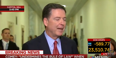 Comey Refuses to Say Whether He Leaked Classified Information
